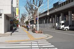 川崎駅からシェアハウスへ向かう道の様子。(2018-02-27,共用部,ENVIRONMENT,1F)