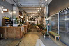 カフェの様子。入居者さんも利用できます。(2020-07-30,共用部,OTHER,1F)