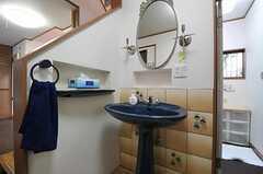 洗面台の様子。面白い形状です。(2012-03-23,共用部,OTHER,1F)