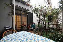 庭の様子。晴れた日はとても気持ちよさそう。(2012-03-23,共用部,OTHER,1F)