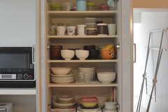食器棚の様子。(2016-09-06,共用部,KITCHEN,1F)