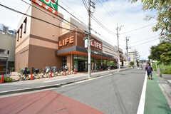 駅の近くのスーパーの様子。(2016-09-06,共用部,ENVIRONMENT,1F)