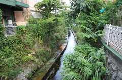 駅の近くには小さな川が流れています。(2012-08-03,共用部,ENVIRONMENT,1F)