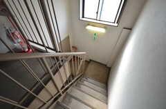 マンションの階段。(2016-02-25,共用部,OTHER,4F)