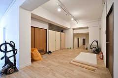 工事中の廊下の様子。(2017-03-30,共用部,OTHER,1F)