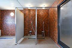 シャワーブースの様子。(2017-03-30,共用部,BATH,1F)