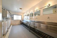 ランドリールームの様子。洗面台も設置されています。(2017-03-30,共用部,LAUNDRY,2F)