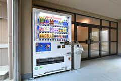 玄関前には自動販売機が設置されています。(2017-03-30,共用部,OTHER,1F)