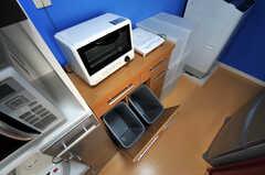 ゴミ箱の様子。(2011-01-19,共用部,KITCHEN,2F)