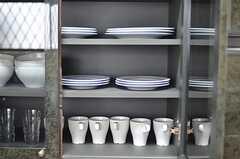 食器の様子。(2013-04-23,共用部,KITCHEN,1F)