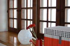 両開き窓の様子。(303号室)(2013-05-13,専有部,ROOM,3F)
