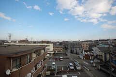 屋上から見える景色。(2008-12-10,共用部,LAUNDRY,5F)