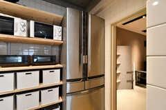 冷蔵庫の様子。(2021-03-11,共用部,KITCHEN,1F)