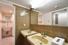 洗面台の様子。(2021-03-11,共用部,WASHSTAND,2F)