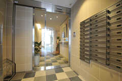 鍵付きのポスト。対面には宅配ボックスがあります。(2012-03-22,周辺環境,ENTRANCE,1F)