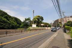 小田急線・読売ランド前駅からシェアハウスへ向かう道の様子。(2011-07-06,共用部,ENVIRONMENT,1F)