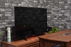 共用TVの様子。(2021-06-01,共用部,TV,1F)