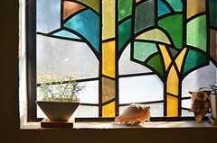 窓辺の貝殻とグリーン。(2013-02-20,周辺環境,ENTRANCE,1F)