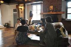 ファッション誌の撮影時の様子。雑誌の撮影場所として利用される事もあります。(2009-07-24,共用部,PARTY,1F)