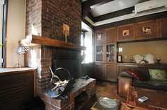 暖炉の様子。(2013-02-20,共用部,LIVINGROOM,1F)