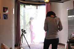 ファッション誌の取材時の様子7。(2010-05-21,共用部,LIVINGROOM,1F)