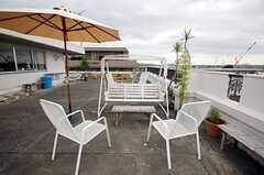 屋上の様子。家庭菜園計画もあるのだそう。(2010-08-18,共用部,OTHER,3F)