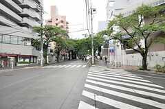 シェアハウスから東急田園都市線・宮崎台駅へ向かう道の様子。(2010-08-18,共用部,ENVIRONMENT,1F)