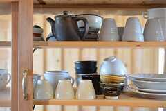 食器棚の様子。(2014-12-18,共用部,KITCHEN,2F)