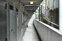 外廊下で各専有部やラウンジにアクセスします。(2011-02-18,共用部,OTHER,1F)
