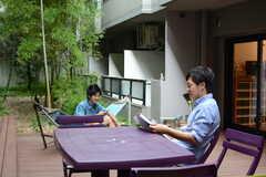 入居者インタビュー時の様子4。(2015-08-23,共用部,OTHER,1F)