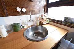 キッチンの洗面台の様子。(204号室)(2016-09-30,専有部,ROOM,2F)