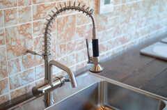 シンクのシャワー水栓は、メカニカルです。(2011-10-25,共用部,KITCHEN,3F)