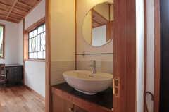専有部の洗面台の様子。(102号室)(2011-11-28,専有部,ROOM,1F)