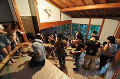 流しそうめんイベントの様子2。(2011-07-30,共用部,PARTY,4F)