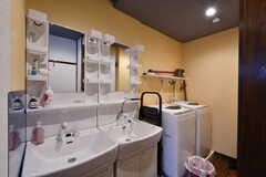 洗面台の様子。(2020-06-22,共用部,WASHSTAND,1F)