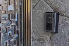 カメラ付きインターホンの様子。(2012-08-24,共用部,OUTLOOK,1F)