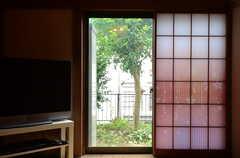 障子戸は模様入り。(2015-06-10,共用部,LIVINGROOM,1F)