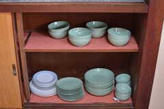 食器棚の様子。(2017-05-31,共用部,KITCHEN,1F)