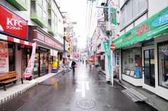 シェアハウスから東急東横線綱島駅へ向かう道の様子。(2010-04-16,共用部,ENVIRONMENT,1F)
