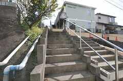 前面道路からシェアハウスまでの道には階段があります。(2010-11-02,共用部,ENVIRONMENT,1F)