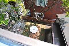専有部から見た中庭の様子。(201号室)(2014-04-24,専有部,ROOM,2F)