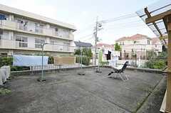 洗濯物干し場の様子。(2011-08-12,共用部,OTHER,2F)