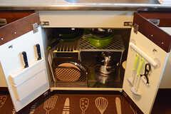 調理器具はシンク下に収納されています。(2017-01-10,共用部,KITCHEN,1F)