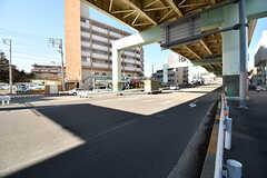 駅からシェアハウスへ向かう道の様子。(2017-01-10,共用部,ENVIRONMENT,1F)