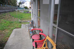 喫煙所の様子。(2014-04-01,共用部,OTHER,1F)