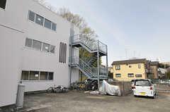 駐車場・駐輪場の様子。(2014-04-01,共用部,GARAGE,1F)