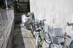 自転車置場の様子。(2014-03-24,共用部,GARAGE,1F)