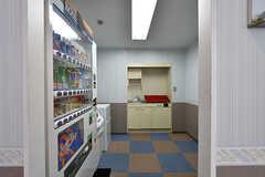 自動販売機が設置されています。(2017-04-27,共用部,OTHER,2F)