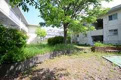 建物の間にある庭の様子。(2015-05-07,共用部,OTHER,1F)