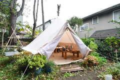 テントの様子。入居者さん以外の方も利用することができます。(2017-11-14,共用部,OTHER,1F)